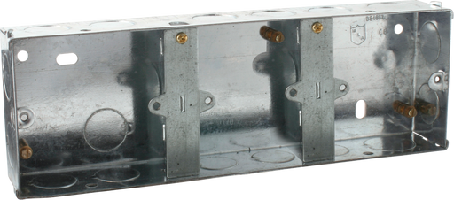 Knightsbridge SG335 3G 35MM GALVANISED Steel BOXES TRIPLE - Knightsbridge - sparks-warehouse