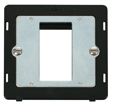 Scolmore SIN310BK - 1 Gang Plate Single Media Module Insert - Black - Scolmore - Sparks Warehouse