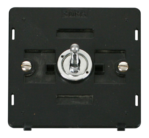 Scolmore SIN421CH - 10AX 1 Gang 2 Way Toggle Switch Insert - Chrome - Scolmore - Sparks Warehouse