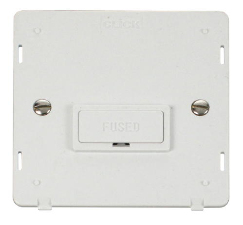Scolmore SIN650PW - 13A Fused Connection Unit Insert - White - Scolmore - Sparks Warehouse