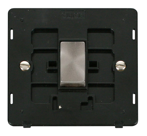 Scolmore SINBSBK-SMART1 - 1G Insert 1 Aperture Supplied With 1 x 10AX 2 Way Ingot Retractive Switch Module - Black - Scolmore - Sparks Warehouse