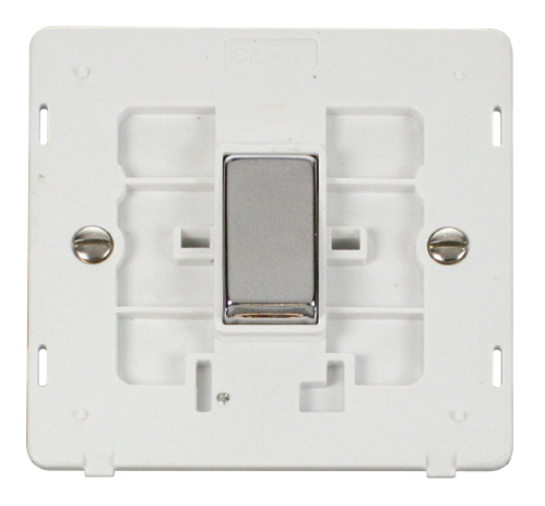Scolmore SINCHPW-SMART1 - 1G Insert 1 Aperture Supplied With 1 x 10AX 2 Way Ingot Retractive Switch Module - White - Scolmore - Sparks Warehouse