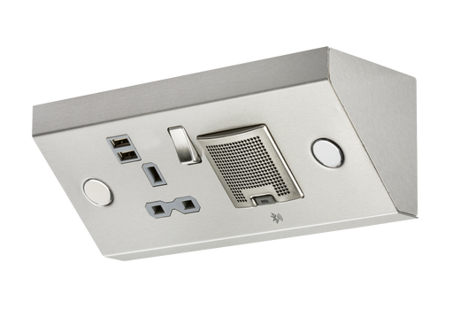 Knightsbridge SKR0014 13A 1G Mounting Switched Socket with Dual USB Charger (2.4A) and 3W RMS Bluetooth Speaker - Knightsbridge - Sparks Warehouse