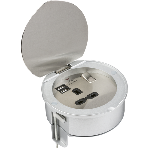 Knightsbridge SKR003A 13A 1G Recessed Socket With USB Charger PORTS - Knightsbridge - sparks-warehouse