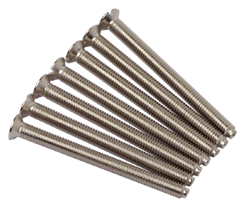 Scolmore SP640CH - Define 3.5mm Dia. 40mm Long Screws  (Bag 100) - Chrome - Scolmore - Sparks Warehouse