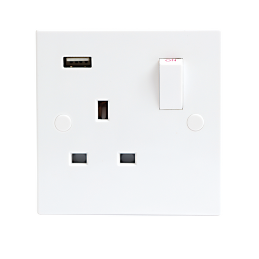 Knightsbridge ST9901 13A 1G DP Switched Socket With USB Charger PORT 5V DC 1A