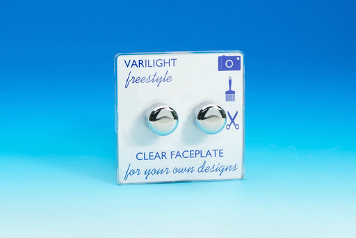Varilight JIFP252C - 2-Gang 2-Way Push-On/Off Rotary LED Dimmer 2 x 0-120W (1-10 LEDs)