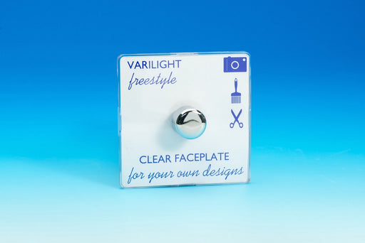 Varilight JIFP401C - 1-Gang 2-Way Push-On/Off Rotary LED Dimmer 1 x 0-120W (1-10 LEDs)