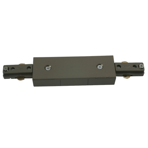Knightsbridge TRKCS 230v track connector Satin Nickel. - Knightsbridge - sparks-warehouse