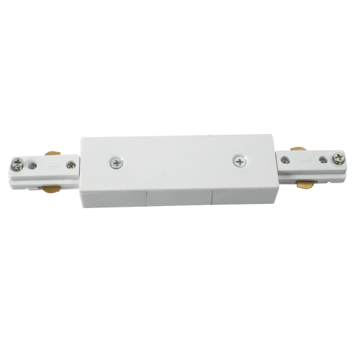 Knightsbridge TRKCW 230v track connector White. - Knightsbridge - sparks-warehouse