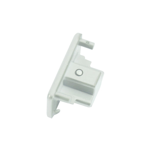 Knightsbridge TRKDEW 230v Single Circuit track Dead End Cap  White