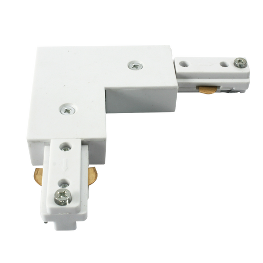 Knightsbridge TRKRAW 230v track L  Right Angle connector White. - Knightsbridge - sparks-warehouse