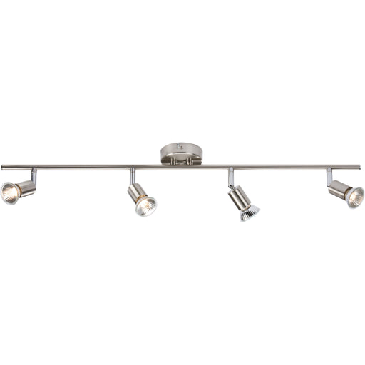 Knightsbridge NSPGU4BC 240V GU10 Brushed Chrome 4 Bar Spot