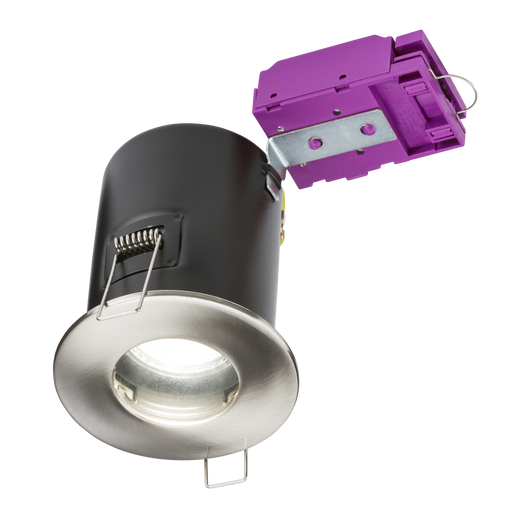Knightsbridge VFCIPBC Fire Rated IP65 DownLight GU10 - Brushed Chrome