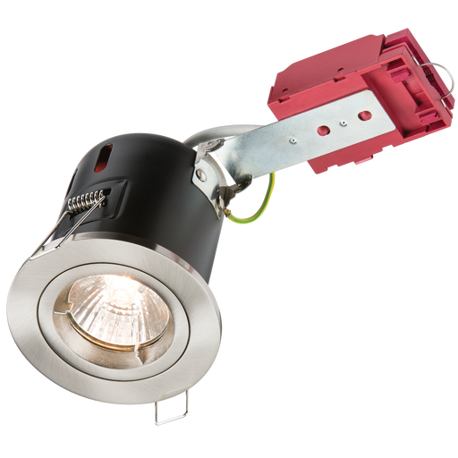 Knightsbridge VFRDGICCBR Fixed GU10 230V 50W IC Fire Rated DownLight  -BR/Chrome - Knightsbridge - sparks-warehouse