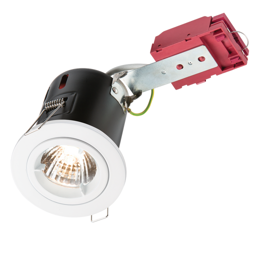 Knightsbridge VFRDGICW Fixed GU10 230V 50W IC Fire Rated DownLight   -White - Knightsbridge - sparks-warehouse