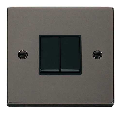 Scolmore VPBN012BK - 2 Gang 2 Way 10AX Switch - Black - Scolmore - Sparks Warehouse
