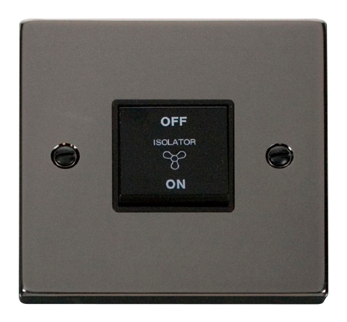 Scolmore VPBN020BK - 10A 1 Gang 3 Pole Fan Isolation Switch - Black - Scolmore - Sparks Warehouse