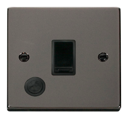 Scolmore VPBN022BK - 20A 1 Gang DP Switch With Flex Outlet - Black - Scolmore - Sparks Warehouse