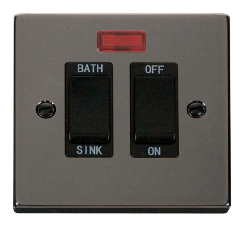 Scolmore VPBN024BK - 20A DP Sink/Bath Switch - Black - Scolmore - Sparks Warehouse