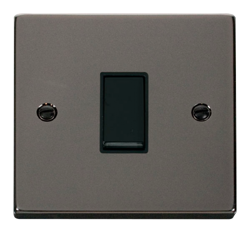 Scolmore VPBN025BK - 1 Gang Intermediate 10AX Switch - Black - Scolmore - Sparks Warehouse