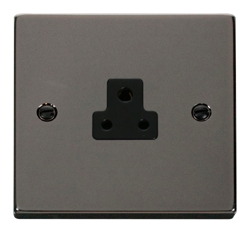 Scolmore VPBN039BK - 2A Round Pin Socket Outlet - Black - Scolmore - Sparks Warehouse