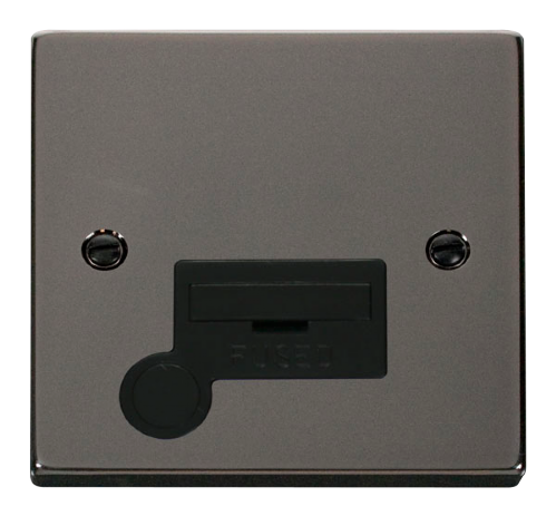 Scolmore VPBN050BK - 13A Fused Connection Unit With Flex Outlet - Black - Scolmore - Sparks Warehouse