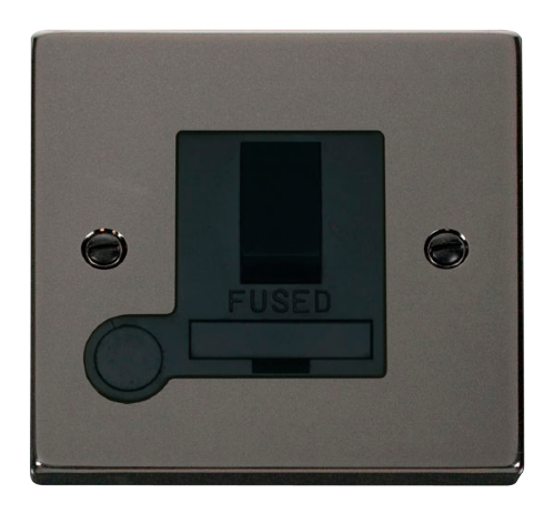Scolmore VPBN051BK - 13A Fused Switched Connection Unit With Flex Outlet - Black - Scolmore - Sparks Warehouse
