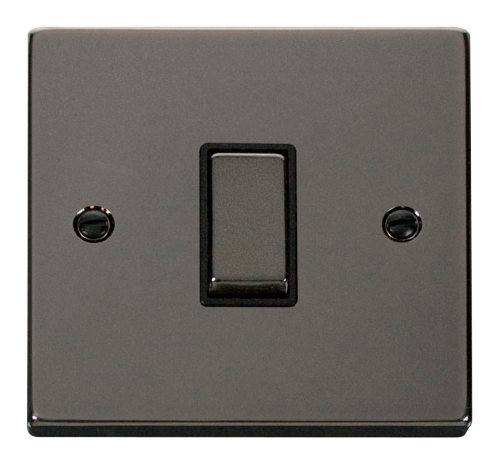 Scolmore VPBN411BK - 1 Gang 2 Way 'Ingot' 10AX Switch - Black - Scolmore - Sparks Warehouse