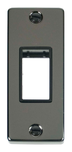 Scolmore VPBN471BK - Single Architrave Plate & Aperture - Black - Scolmore - Sparks Warehouse