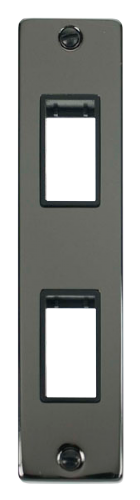 Scolmore VPBN472BK - Double Architrave Plate & Aperture - Black - Scolmore - Sparks Warehouse
