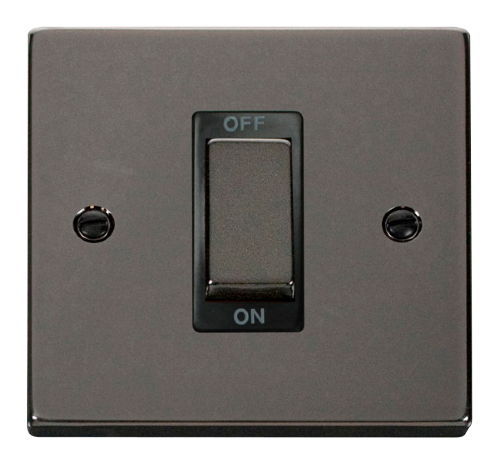 Scolmore VPBN500BK - Ingot 1 Gang 45A DP Switch - Black - Scolmore - Sparks Warehouse