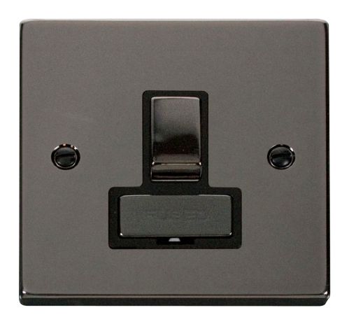 Scolmore VPBN751BK - 13A Fused 'Ingot' Switched Connection Unit - Black