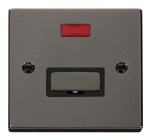 Scolmore VPBN753BK - 13A Fused 'Ingot' Connection Unit With Neon - Black