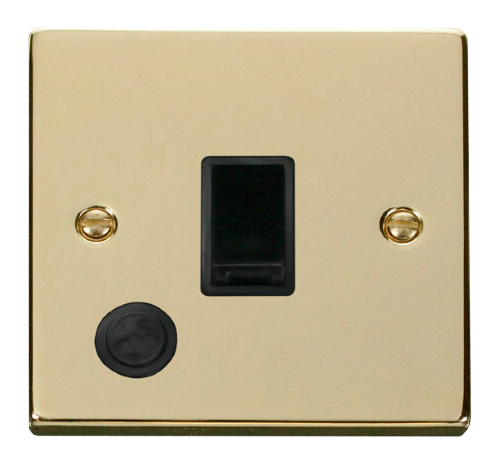 Scolmore VPBR022BK - 20A 1 Gang DP Switch With Flex Outlet - Black - Scolmore - Sparks Warehouse