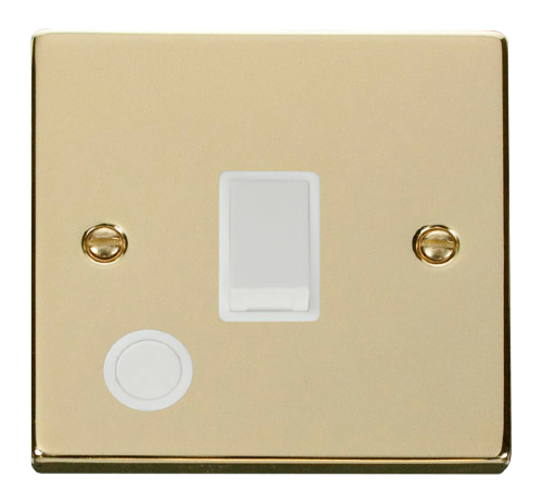 Scolmore VPBR022WH - 20A 1 Gang DP Switch With Flex Outlet - White - Scolmore - Sparks Warehouse