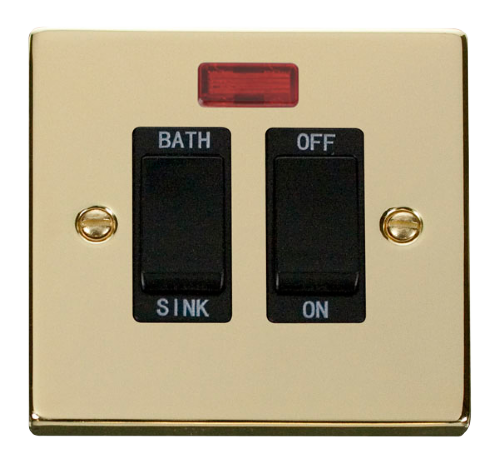 Scolmore VPBR024BK - 20A DP Sink/Bath Switch - Black - Scolmore - Sparks Warehouse