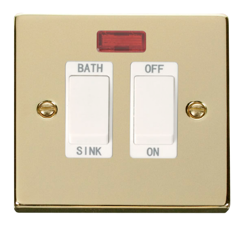 Scolmore VPBR024WH - 20A DP Sink/Bath Switch - White - Scolmore - Sparks Warehouse