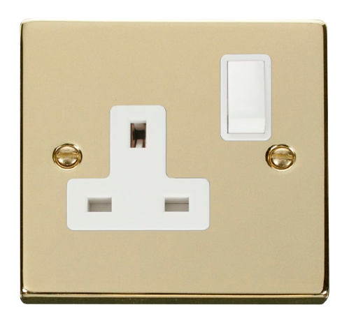 Scolmore VPBR035WH - 1 Gang 13A DP Switched Socket Outlet - White - Scolmore - Sparks Warehouse