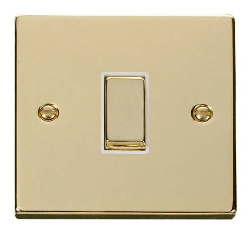 Scolmore VPBR411WH - 1 Gang 2 Way 'Ingot' 10AX Switch - White - Scolmore - Sparks Warehouse