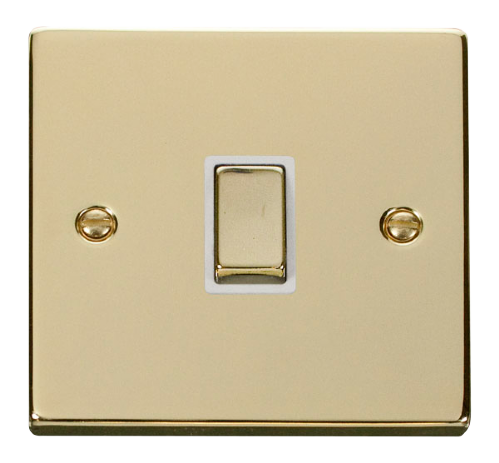 Scolmore VPBR722WH - 20A 1 Gang DP 'Ingot' Switch - White - Scolmore - Sparks Warehouse