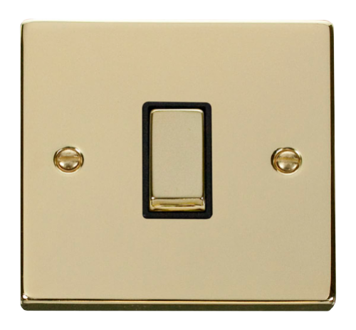 Scolmore VPBRBK-SMART1 - 1G Plate 1 Aperture Supplied With 1 x 10AX 2 Way Ingot Retractive Switch Module - Black - Scolmore - Sparks Warehouse