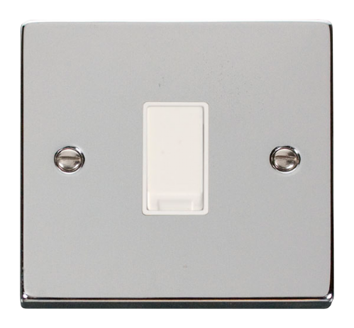 Scolmore VPCH011WH - 1 Gang 2 Way 10AX Switch - White