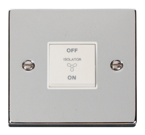 Scolmore VPCH020WH - 10A 1 Gang 3 Pole Fan Isolation Switch - White - Scolmore - Sparks Warehouse