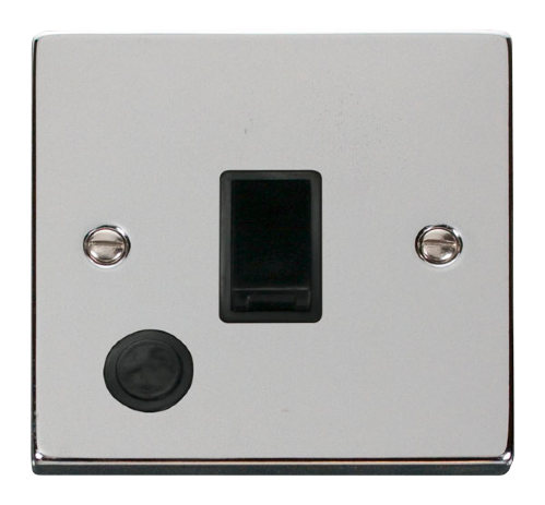 Scolmore VPCH022BK - 20A 1 Gang DP Switch With Flex Outlet - Black - Scolmore - Sparks Warehouse