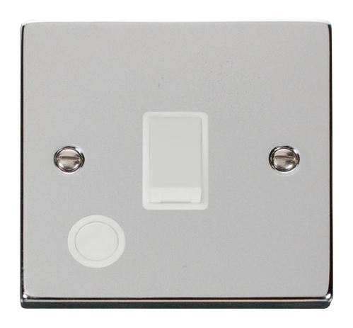 Scolmore VPCH022WH - 20A 1 Gang DP Switch With Flex Outlet - White - Scolmore - Sparks Warehouse