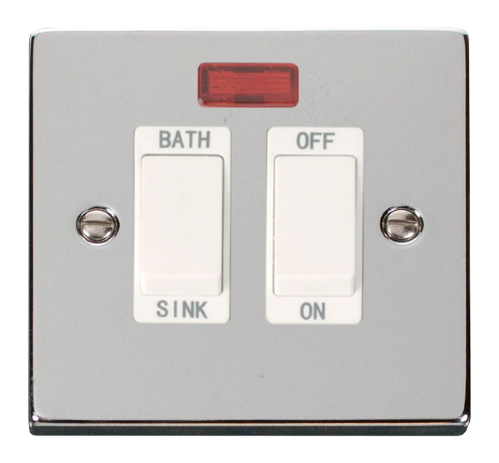 Scolmore VPCH024WH - 20A DP Sink/Bath Switch - White - Scolmore - Sparks Warehouse