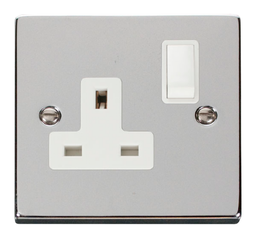 Scolmore VPCH035WH - 1 Gang 13A DP Switched Socket Outlet - White - Scolmore - Sparks Warehouse