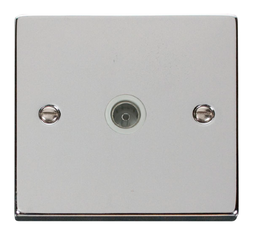 Scolmore VPCH065WH - Single Coaxial Socket Outlet - White