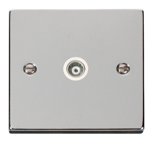 Scolmore VPCH158WH - Single Isolated Coaxial Socket Outlet - White